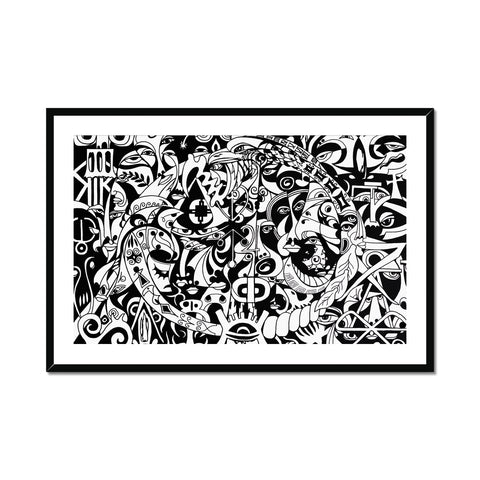 The Earth  - Abstract Art - Framed & Mounted Print