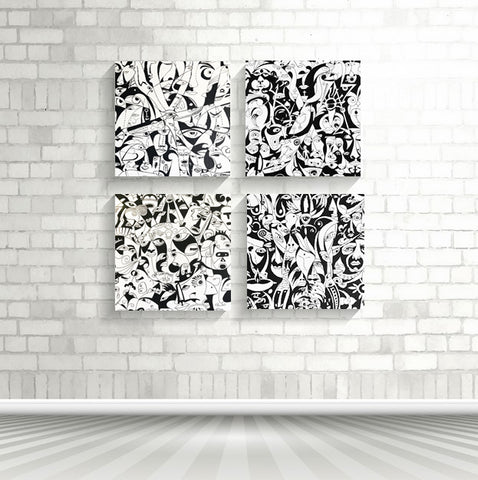 "RRoot Cubism Blocks - Print on Canvas - 16"" and 20"" Blocks"