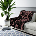RRoot Sherpa Fleece Blanket - The Infinity (Dark)
