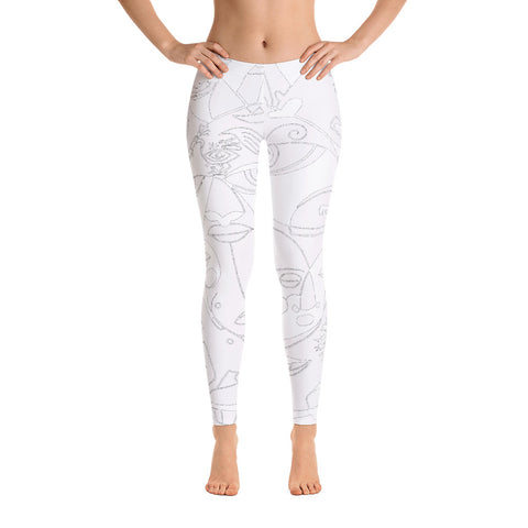Leggings - The Sun Design - White