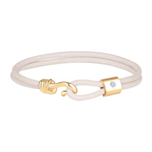 Load image into Gallery viewer, Promise Bracelet - Yellow Gold Plated Sterling Silver Set With 0.1ct. Polished Diamond