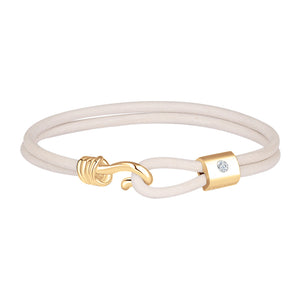 Promise Bracelet - Yellow Gold Plated Sterling Silver Set With 0.1ct. Polished Diamond