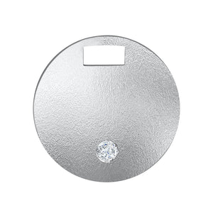 Sphere of Love Pendant - Sterling Silver Set With 0.1ct. Round Diamond