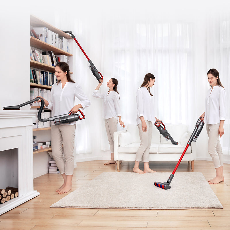 JIMMY JV65 22Kpa Handheld Cordless Stick Vacuum Cleaner 145AW Suction Anti-winding Hair Mite 70 Minutes Run Time