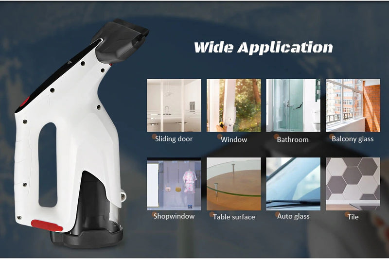 JIMMY VW302-1 Cordless Window Glass Vacuum Cleaner with Squeegee / Spray Bottle Global Version