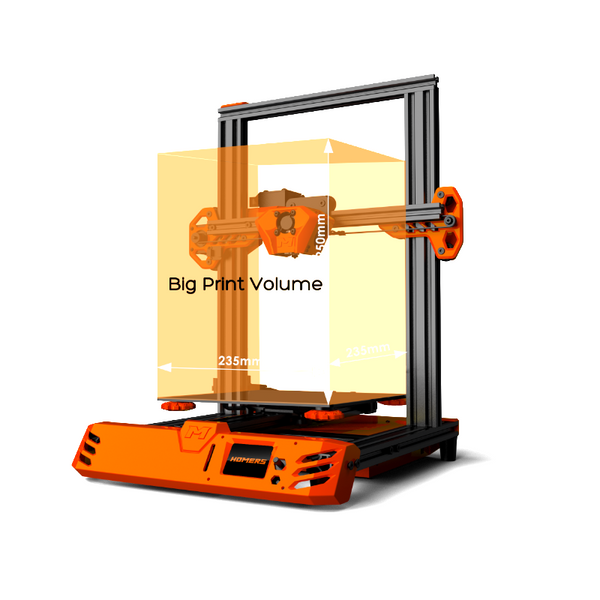 HOMERS  Tarantula Pro 3D Printer Kit with 235x235x250mm Printing Size MKS GenL Mainboard 0.4mm Volcano Nozzle Support 1.75mm Filament