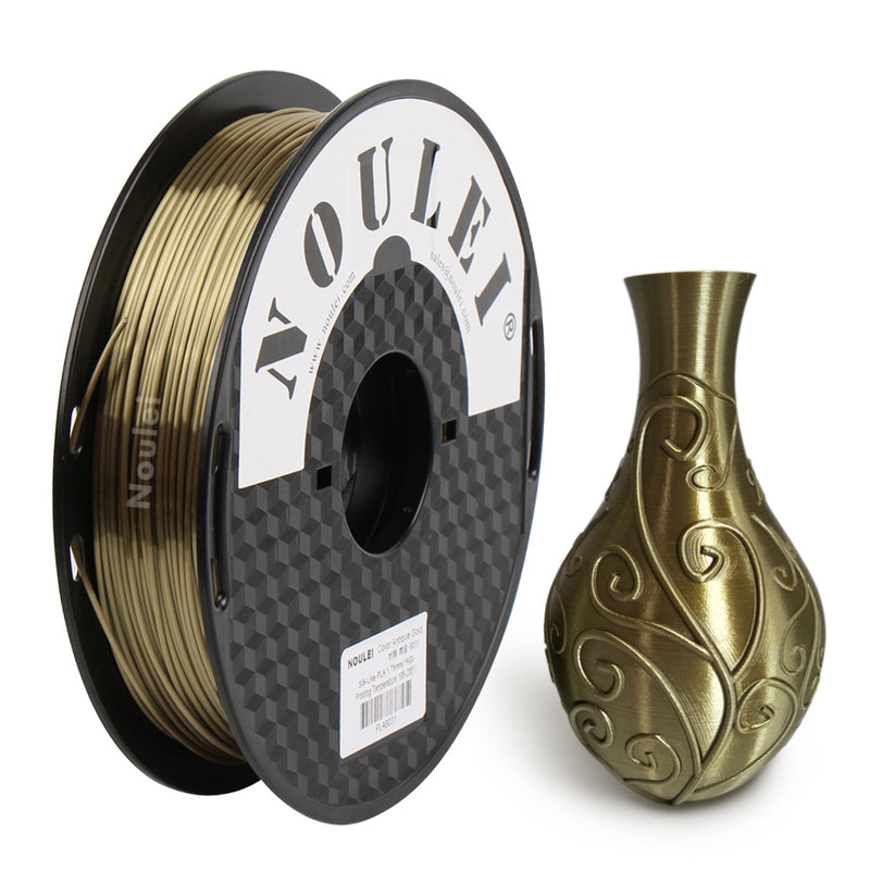 Noulei 3D Printer Filament Silk PLA 1.75mm 0.5kg Spool for Creality Anycubic All FDM 3D Printer