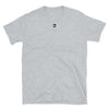 GREY_AI Clothing Tshirt with Ai logo center underneath color, in the color of Black
