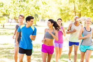 Group of runners running 5K races in the US