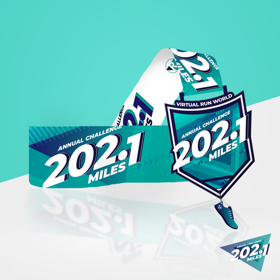 202.1 Mile Challenge - Entry + Medal