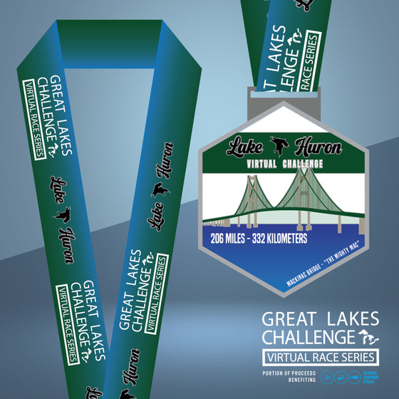 The Great Lakes Challenge: Lake Huron Entry + Medal