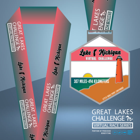 The Great Lakes Challenge: Lake Michigan Entry + Medal