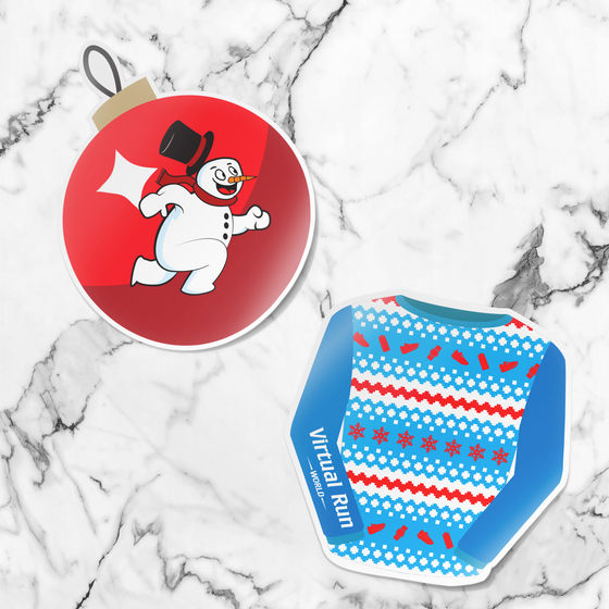 Happy Holidays Virtual Run Series Sticker Pack - Sticker Only