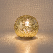 Load image into Gallery viewer, Ball Table Lamp with Dot Pattern Small Gold
