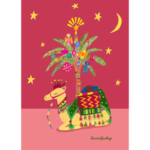 Xmas Sleeping Camel Card