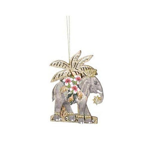 Animals with Palm Tree Decoration