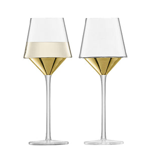 Gold Wine Glass Set of 2