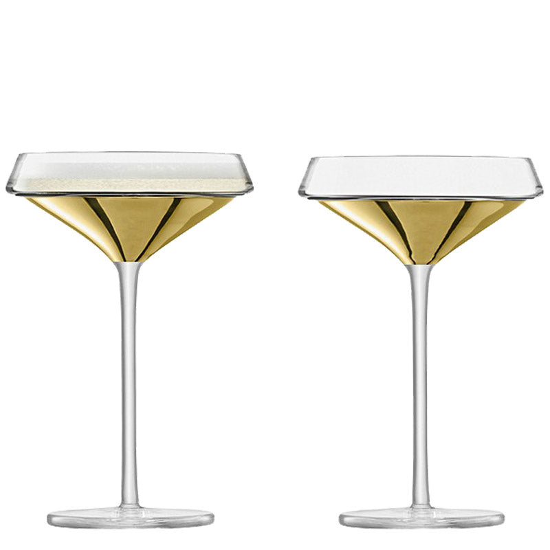 Gold Cocktail Glass Set of 2