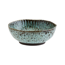 Load image into Gallery viewer, Green and Black Stoneware Bowl