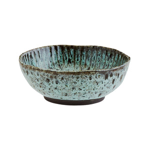 Green and Black Stoneware Bowl