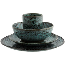 Load image into Gallery viewer, Green and Black Stoneware Cup