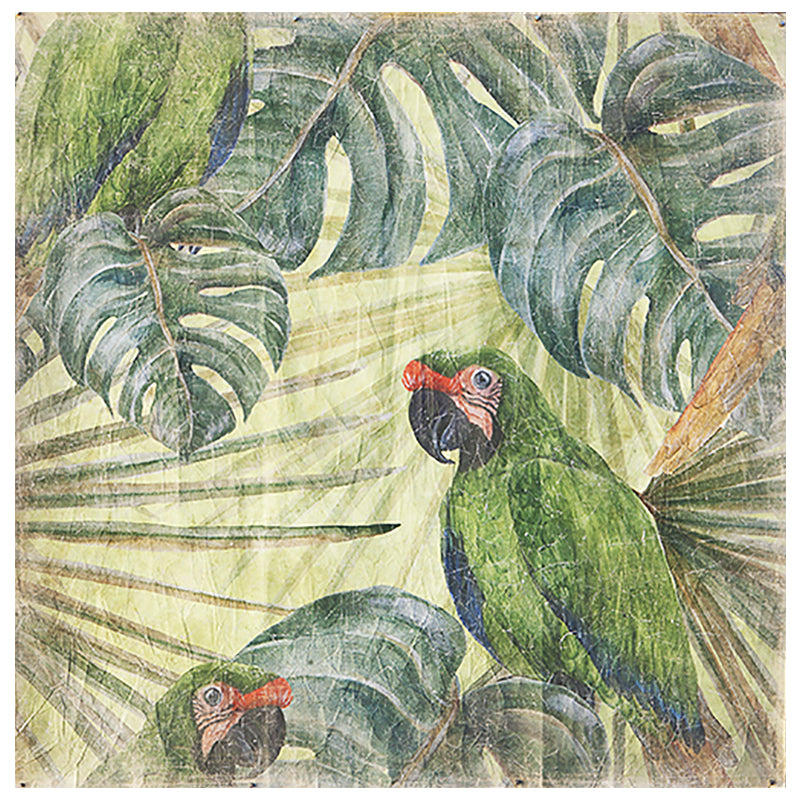 Tropical Parrot Wall Hanging