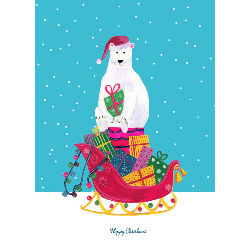 Polar Bear Xmas Card