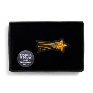 Hand Embroidered Shooting Star Brooch