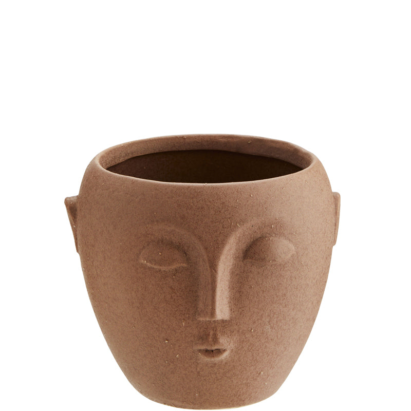Terracotta Pot with Face Imprint