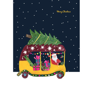 Santa in Tuk Tuk Card