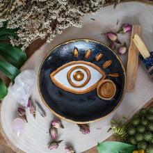 Load image into Gallery viewer, Black Eye Palo Santo Incense Holder