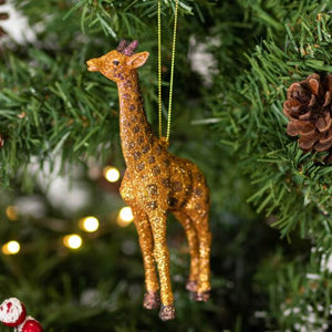 Gold Glitter Giraffe Decoration