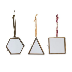 Tiny Geometric Frames Antique Set of 3
