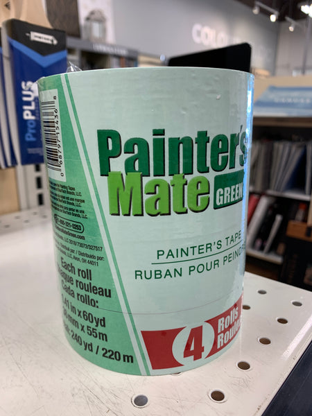 Multi pack Green Painters Mate  1 ½ tape. 4 rolls