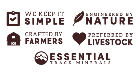 keep it simple, engineered by nature, crafted by farmers, preferred by livestock, essential trace minerals