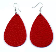 Load image into Gallery viewer, Faux Leather Earrings