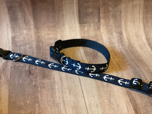 Anchors Away Dog Collar