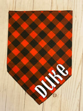 Load image into Gallery viewer, Red Buffalo Plaid Bandanas