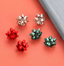 Load image into Gallery viewer, Christmas Bow Earrings