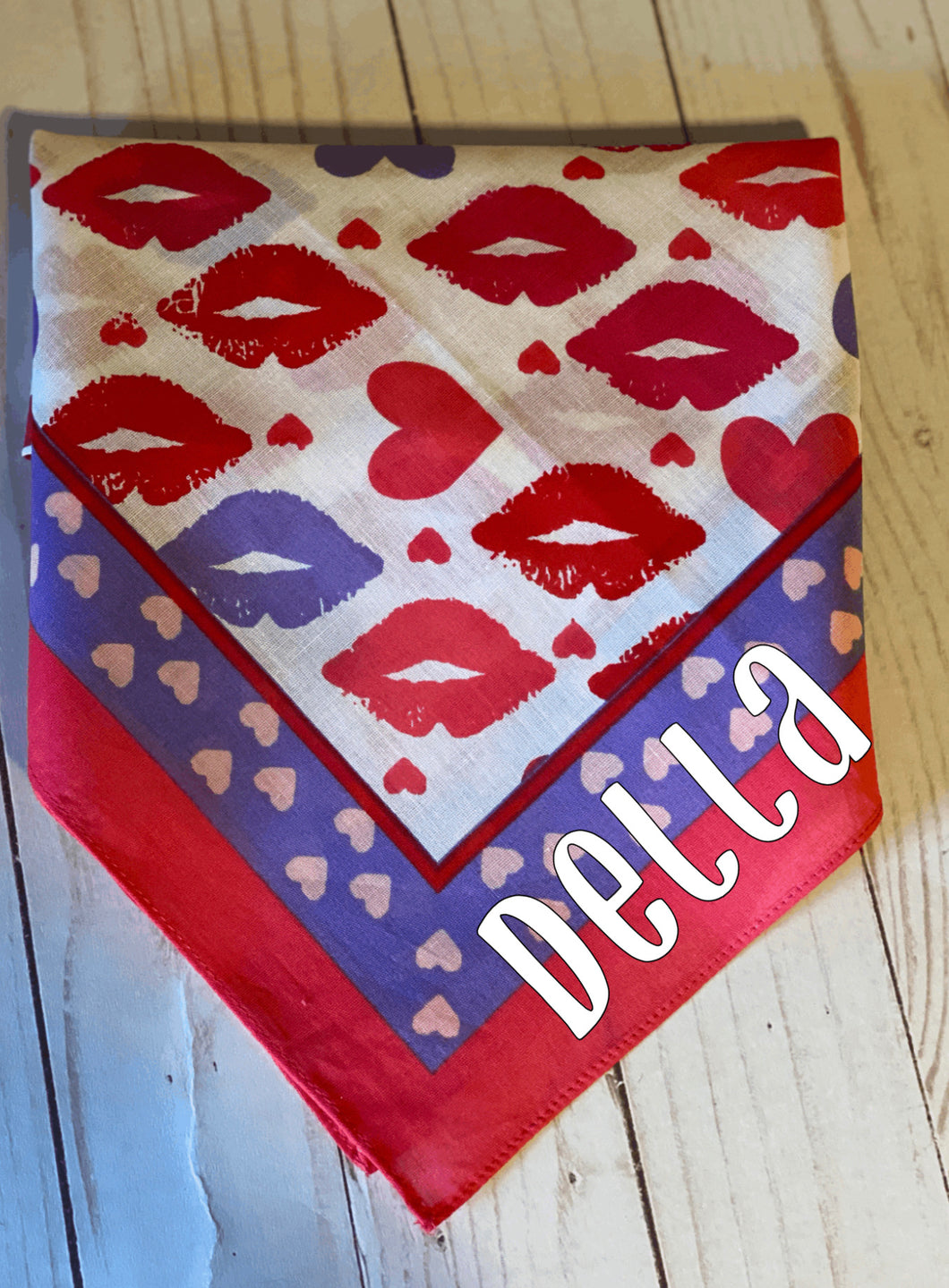 Lips and Hearts Bandana