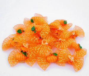 Mini Pumpkin Bows