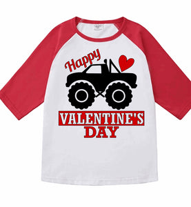 Monster Truck Boy's Valentine Shirt