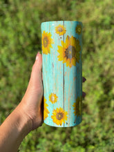 Load image into Gallery viewer, Sunflower Epoxied Tumbler
