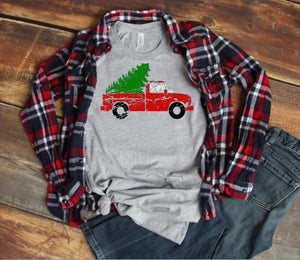 Distressed Christmas Truck Tee