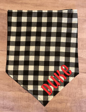 Load image into Gallery viewer, Black and White Buffalo Plaid Bandanas