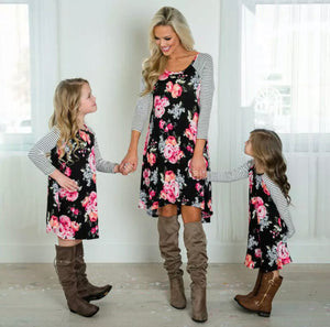 Mommy and Me Spring Floral Dress