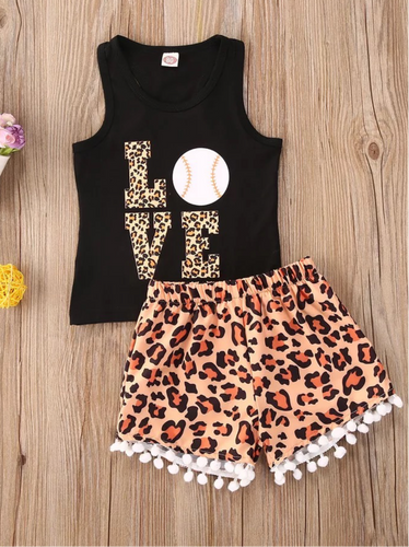 Baseball Leopard Outfit