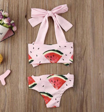 Load image into Gallery viewer, Watermelon Bow Bikini
