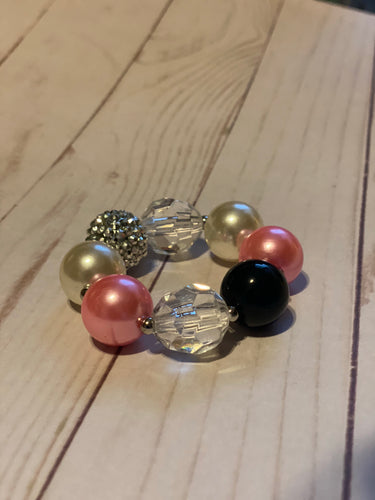 Pink and Black Bubblegum Bracelet