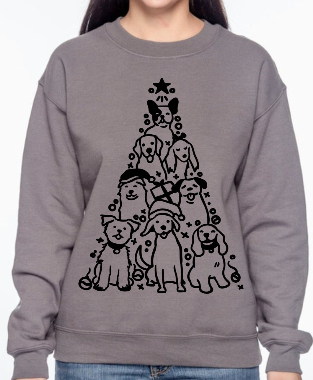 Dog Christmas Tree Sweatshirt